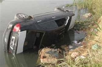 سقوط سيارة ملاكى فى مياه النيل بالقليوبية وإنقاذ قائدها