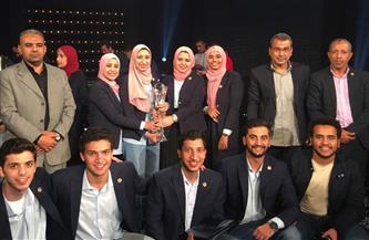 جامعة طنطا تفوز بكأس عباقرة الجامعات المصرية |صور