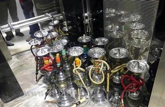 """مصادرة """"شيش"""" في حملة على المقاهي والكافيهات بحدائق القبة"""