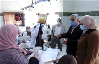 القوى العاملة بالمنوفية تتابع  أعمال مركز التدريب المهني بمدينة أشمون | صور