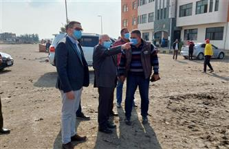 """محافظ بورسعيد يتفقد أعمال إنشاء ساحة جديدة لـ""""مقبرة السيارات"""" وإنشاء محطة كهرباء الجنوب  صور"""