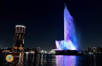 توقفت منذ نحو 40 عامًا.. «نافورة النيل» منارة مضيئة في قلب العاصمة  صور