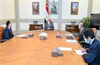 الرئيس السيسي يجتمع مع رئيس الوزراء ومحافظ البنك المركزي