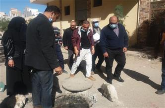 رئيس مياه القناة: حلول جذرية لمشكلات الصرف الصحي بمنطقة أرض المزادات   صور