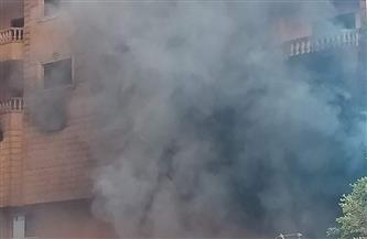 تجدد اشتعال النيران بمخزن الأحذية بفيصل وانهيار أجزاء من سقف المنزل