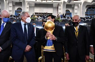 كأس العالم لكرة اليد يصل إستاد القاهرة استعدادًا لتسليمه للفائز بالمباراة النهائية | صور