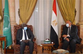 وزير الخارجية يلتقي رئيس مفوضية الاتحاد الإفريقي  صور