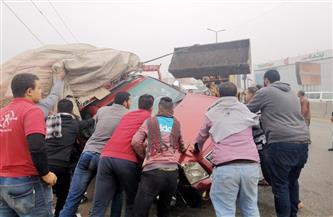 إصابة شخصين في انقلاب سيارة على الطريق الصحراوي الغربي بسوهاج