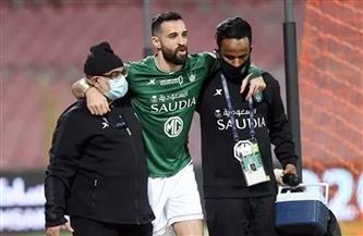 «فتوحي» لاعب الأهلي السعودي يخضع لأشعة الرنين بعد تمزق في أربطة المفصل