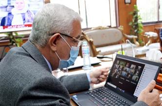 رئيس جامعة المنوفية يعقد مجلسا طارئا لمتابعة تنفيذ قرارات الأعلى للجامعات | صور