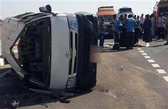 إصابة 10 مواطنين في حادثي انقلاب ميكروباصين بالعاشر من رمضان