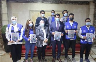 وزارة الشباب والرياضة تنظم حملة للوقاية من فيروس كورونا | صور