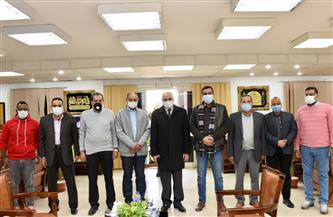 رئيس جامعة الأقصر في زيارة لجهاز مدينة طيبة الجديدة| صور