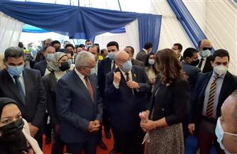 وزيرة الهجرة تفتتح مصنعا لإنتاج ألواح الألومنيوم بالسويس   صور