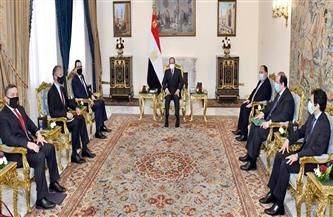 الرئيس السيسي يستقبل وزير الخزانة الأمريكي بحضور وزير المالية ورئيس المخابرات العامة