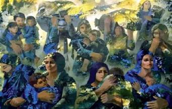 «العائلة المقدسة» بألوان مبهجة فى تجربة فلسطينية.. تأكيد مشرقية «السيد المسيح» فى لوحات ماهر ناجى