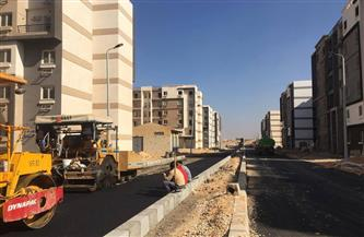 النجار: بدء أعمال رصف طريق شمال المطار بمدينة 6 أكتوبر الجديدة  صور