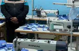 ضبط مصنع غير مرخص بالدقهلية لإنتاج الكمامات الطبية