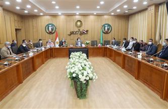 محافظ المنوفية يناقش معوقات أعمال رصف الطرق