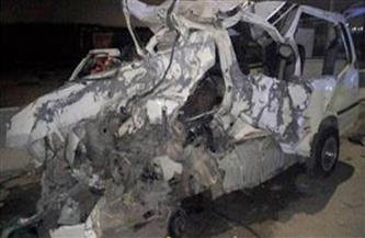 مصرع 4 وإصابة 5 فى حادث تصادم سيارتين بسوهاج