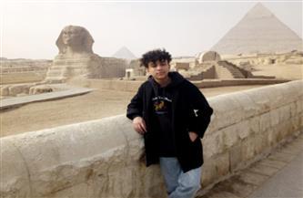 الطفل المصري ميسرة محمود يزور منطقة آثار الهرم| صور