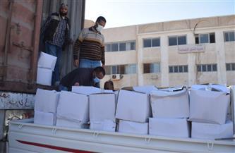 توزيع 2500 كرتونة مواد غذائية على الأسر الأكثر احتياجا بالبحر الأحمر   صور
