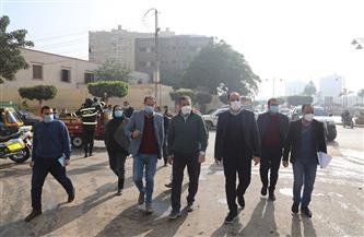 محافظ المنوفية يتفقد أعمال رصف شارع مصطفى كامل | صور