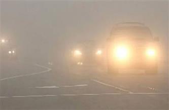 غلق الطريق الدولي الدقهلية المتجه إلي الإسكندرية بسبب الشبورة
