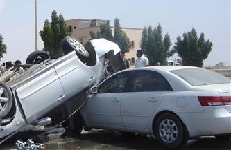 مصرع 3 وإصابة 7 في حادث تصادم على طريق السويس - الإسماعيلية