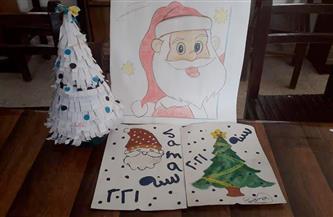 «بابا نويل وشجرة الكريسماس» في لوحات مواهب أطفال الغربية | صور