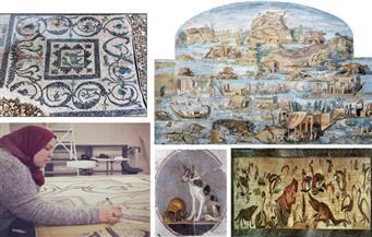 أرشيف علمى لرد اعتبار فنون الفسيفساء ..صناع الإسكندرية أبدعوا «أرضية الإسكندر» و«مجموعة النيل» درة الرومان