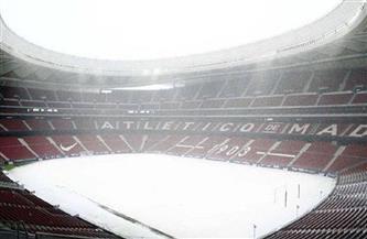 عاصفة ثلجية تؤجل مباراة أتليتكو مدريد وبلباو في الدوري الإسباني