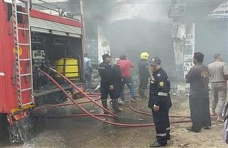 انتداب المعمل الجنائي لمعاينة حريق سوبر ماركت بمنطقة صقر قريش