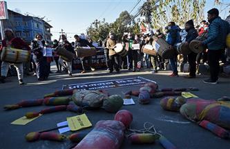 أحزاب المعارضة في نيبال تتظاهر ضد حل البرلمان