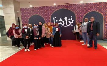 أسرة-quot;طلاب-من-أجل-مصرquot;-بجامعة-الوادي-الجديد-تزور-معرض-تراثنا-بأرض-المعارض- -صور-