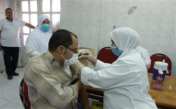 المنوفية-تلقي-الأطقم-الطبية-والعاملين-بمستشفى-منشأة-سلطـان-الجامعي-لقاح-كورونا -صور