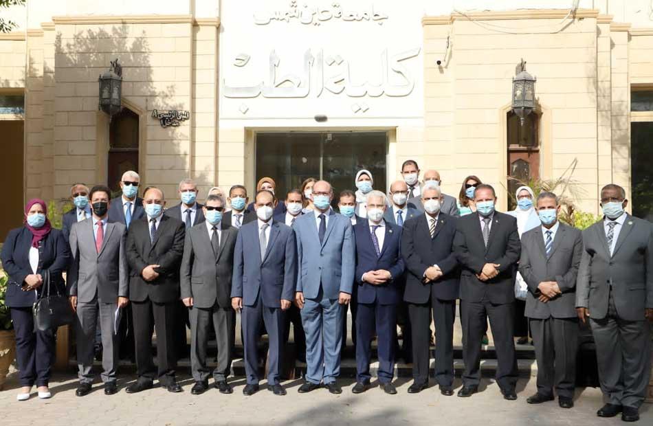 جامعة عين شمس تستضيف اجتماع المجلس الأعلى لشئون الدراسات العليا والبحوث  صور
