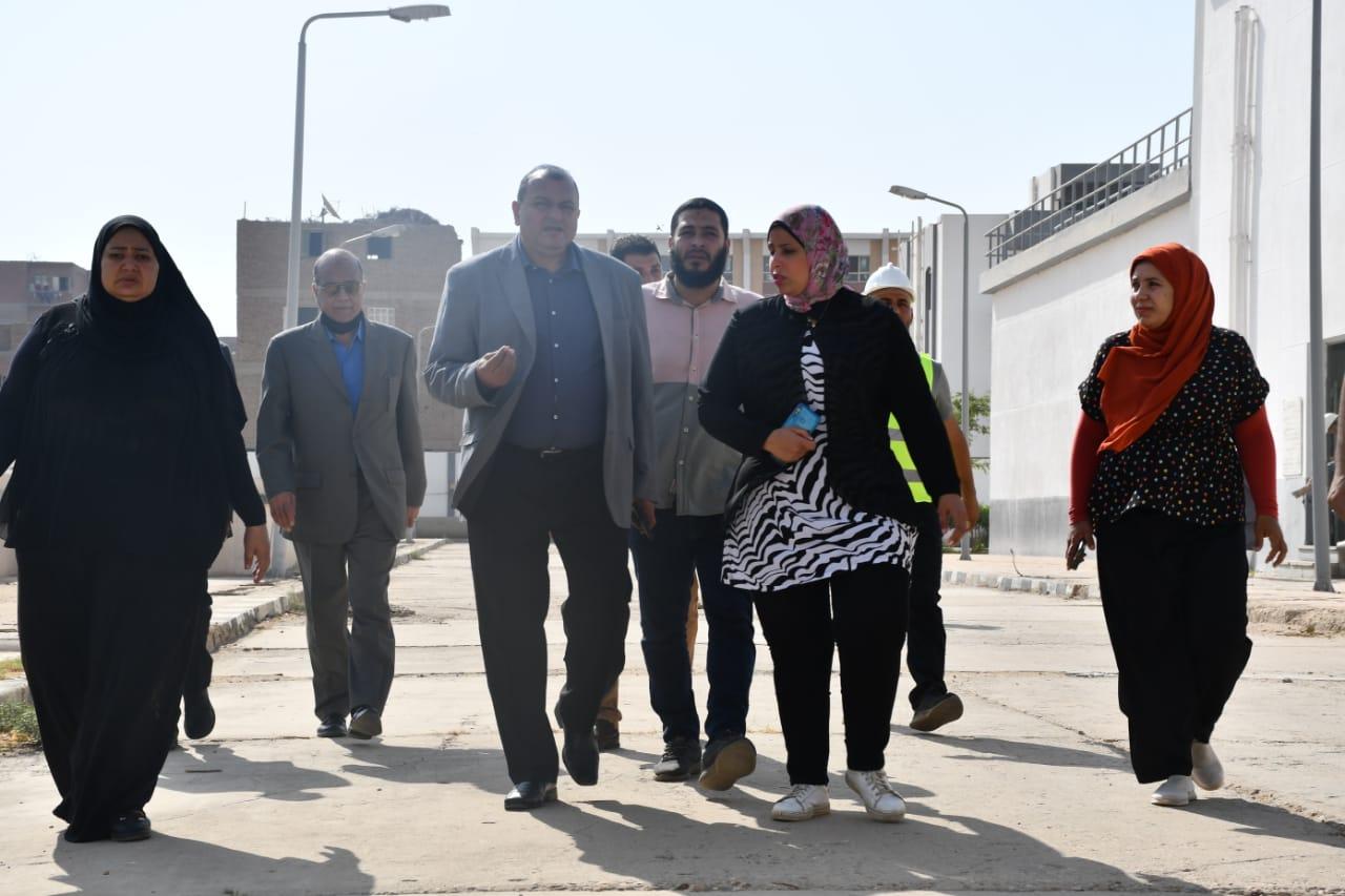 جولة رئيس مياه المنيا علي محطات ملوى ومشروعات حياة كريمة بالمركز