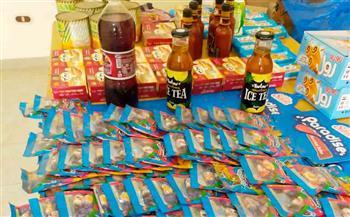 تموين-مطروح-ضبط-مواد-غذائية-غير-صالحة-للاستهلاك-الآدمي-في-محلات-بقالة-|صور
