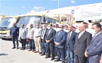 أخبار-شمال-سيناء--حافلة-منحة-أمريكية-إلى-المحافظة- -صور