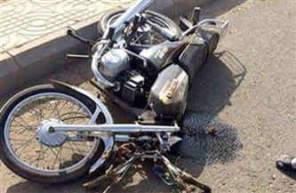 إصابة شخصين فى حادث انقلاب دراجة بخارية بسوهاج