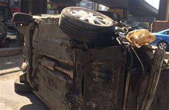 مصرع شخص في سقوط سيارة ملاكي من أعلى كوبري أكتوبر
