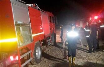 حريق هائل فى إحدى صوبات وزارة الزراعة بالدقي