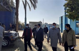 السكرتير المساعد لأسيوط يتفقد مشروع مياه الشرب بقريتي الشامية والخوالد بمركز ساحل سليم |صور