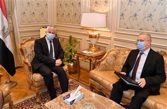 رئيس لجنة العلاقات الخارجية النواب يستقبل سفير روسيا لبحث التعاون