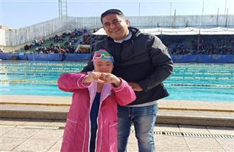 نودى عمرو تحصل على المركز الثاني في بطولة الجمهورية للثنائى الحديث