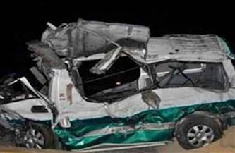 إصابة 14 شخصًا إثر انقلاب ميكروباص بالعياط