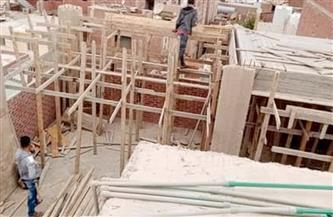 إيقاف بناء عقار مخالف في منطقة السلام بالغردقة