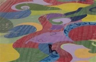 بلوحة عملاقة.. فنان ليبي يمحو آثار الحرب ورماد الرصاص