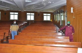 استمرار تعقيم كليات ومنشآت ومستشفيات جامعة كفرالشيخ استعدادًا للامتحانات | صور
